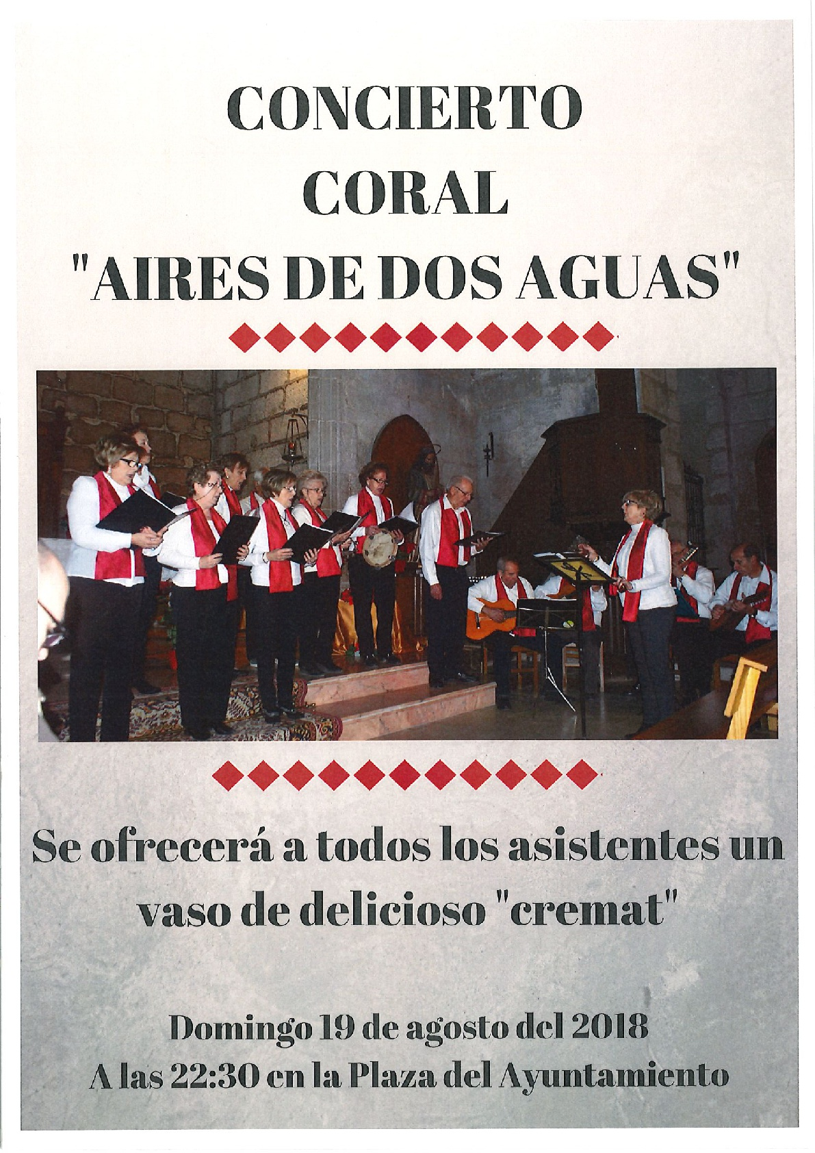 """CONCIERTO CORAL """"AIRES DE DOS AGUAS"""""""